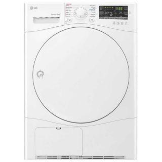 ال جي نشافة ملابس سعة 7 كجم , خاصية التكثيف, مستشعر , 9 برامج, أبيض - RC7066A1F