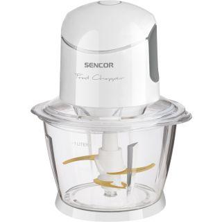 قطاعة سنكور متعددة الاستخدام 500 وات حوض زجاج 1000 مل لون أبيض